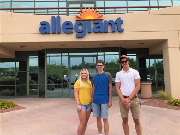 Allegiant Hosts Three West Fargo Graduates After Awarding Aviation Scholarships